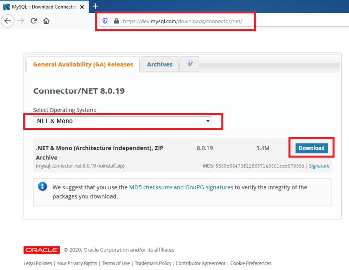 How To Download Mysql Connector NET For Visual Studio C# Project