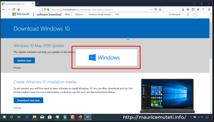 How To Download Windows 10 ISO From Microsoft With Media Creation Tool - Downloaded Tool Startup