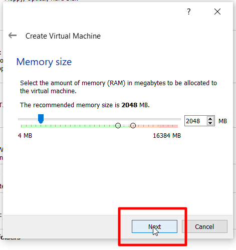 How to Install Windows 7 x64 Bit Ultimate On Oracle VM VirtualBox - Memory Size Next
